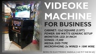 Portable Videoke 12x2 Square 500watts Platinum Reyna 3 LED 24 - Berklyn Electronics Manila