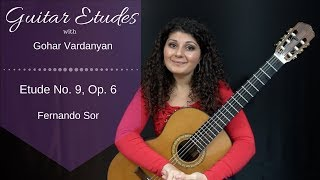 Etude No. 9, Op. 6 by Fernando Sor | Guitar Etudes with Gohar Vardanyan