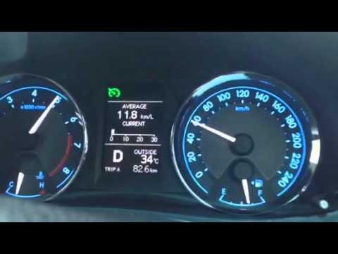 Toyota Altis 2014 1.8V อัตราเร่ง 0-100 km/h
