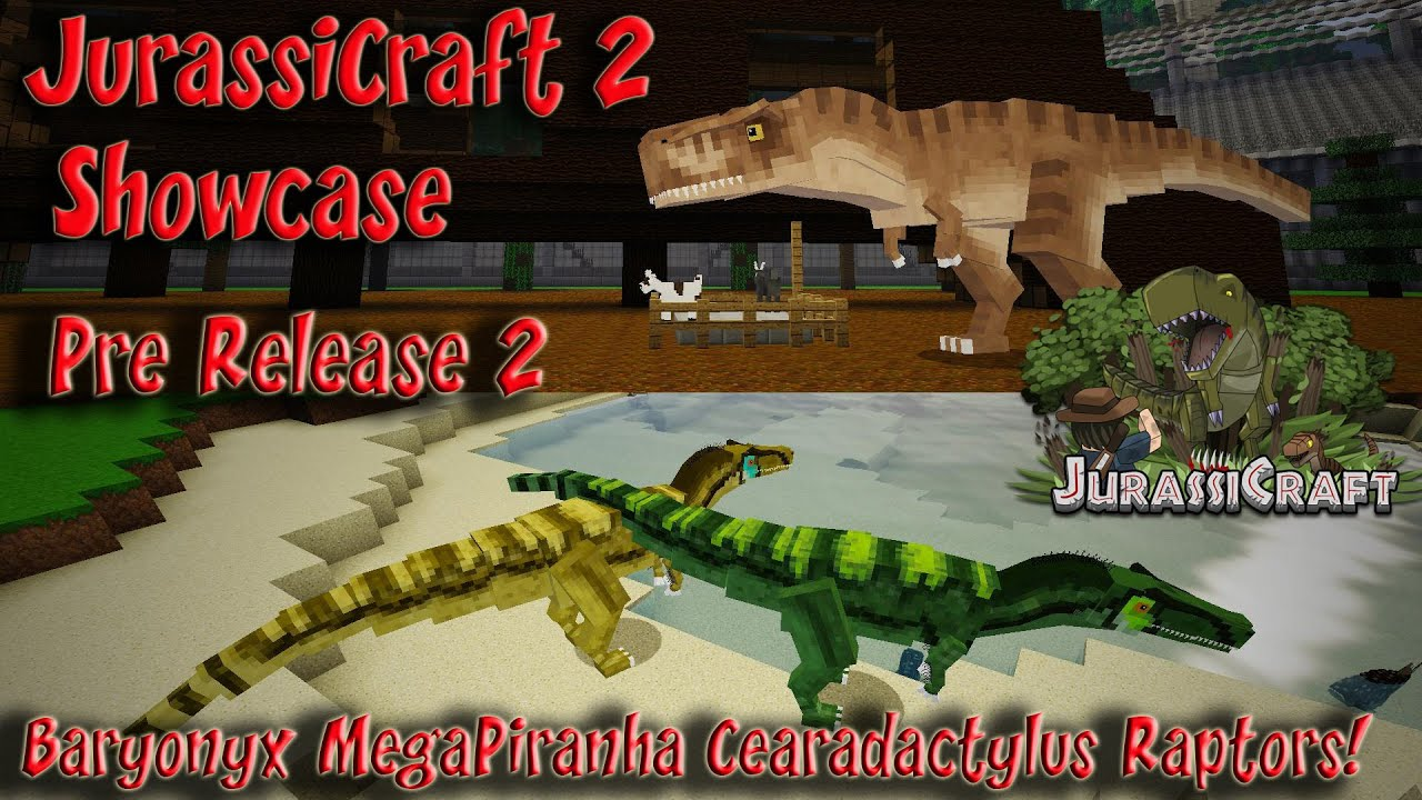 JurassiCraft 2.0 Showcase Pre Release 2 Baryonyx ...