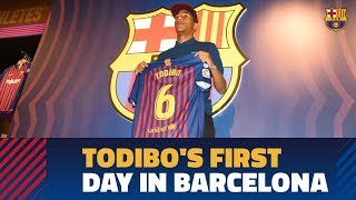 Jean-Clair Todibo's first hours at FC Barcelona