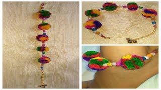 DIY Payal How to make Navratri Jewellery/Ornaments I Navratri Craft -6