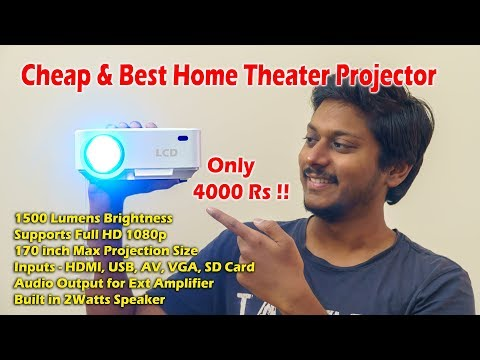 Cheap & Best Home Theater Projector for Only 4000 Rs...