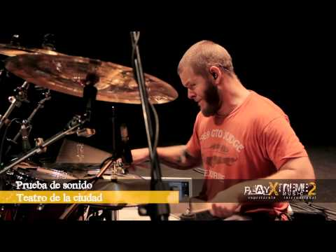John Longstreth at Play Xtreme Music II 2013 Drum Clinics In Mexico