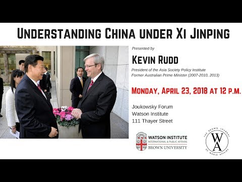Kevin Rudd ─ Understanding China under Xi Jinping