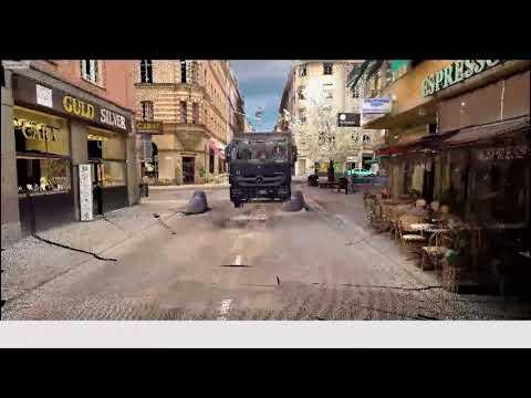3D-film visar lastbilens färdväg längs Drottninggatan