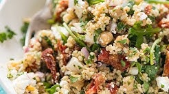 Couscous Salad with Sun Dried Tomatoes and Feta