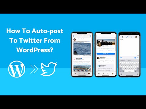 Auto posting to twitter from wordpress