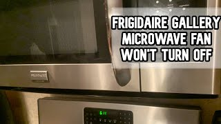 frigidaire gallery microwave fan won t turn off info video frigidairegallery microwave