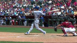 LAD@ARI: Pederson hits his first Major League homer