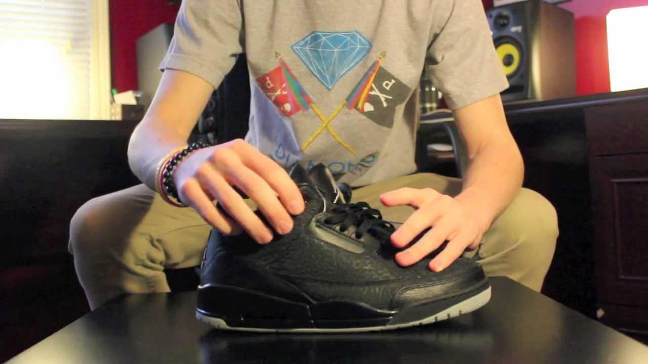 Air Jordan 3 Flip Noir Sur Les Pieds