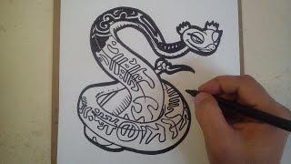 como dibujar a Vivora de kung fu panda 3 / how to draw viper of Kung Fu Panda 3