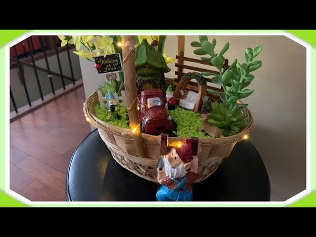 Sweet Fairy Garden Completely Made From Dollar Tree Items! ???????????? Red Truck!! ❤️❤️❤️