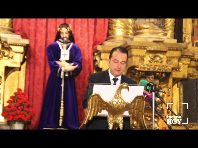 VÍDEO: Pregón del XXV Aniversario Fundacional de la Cofradía de la Pasioón Franciscana, a cargo de Antonio R. García