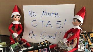 """Elf On The Shelf Breaks Kid's GTA 5 Games And Leaves """"Be Good"""" Note. [ Original ]"""