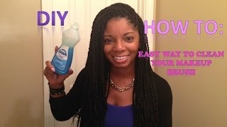 How to: Easy way to clean your makeup brushes | DIY Thumbnail
