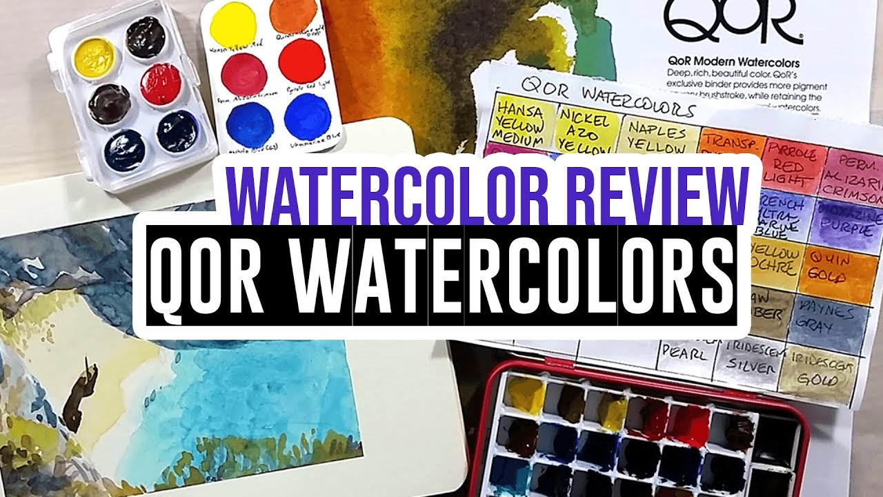 4a6ce1f8c First impression & demo - Qor Watercolor Paints - YouTube