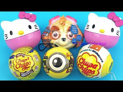 Thumbnail: Super Surprise Eggs Chupa Chups Hello Kitty Paw Patrol Ooshies Minions Despicable Me Surprise Toys