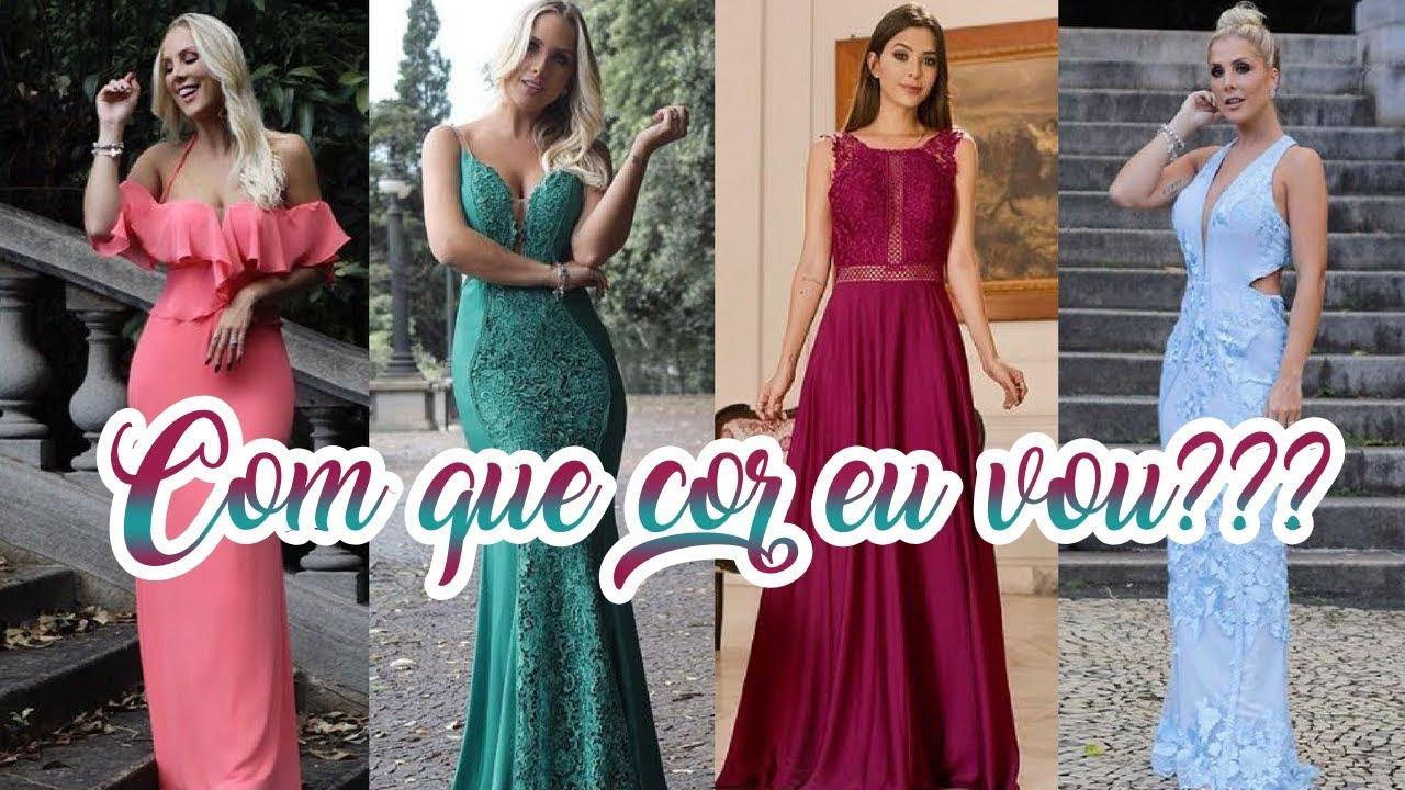 626464759938 Tendências de cores para vestidos de Festa 2018 - YouTube