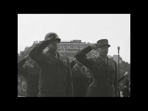 US 28th Division Parades in Paris, France