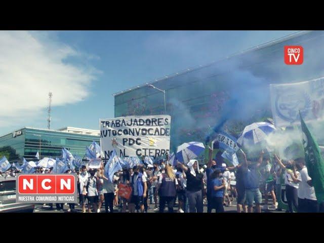 CINCO TV - CGT Zona Norte acompaña a los trabajadores para evitar el cierre del Parque de la Costa