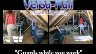 Attic Railing By Versa Lift For Attic Ladder Safety