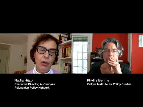 Nadia Hijab and Phyllis Bennis in conversation about US and Palestine