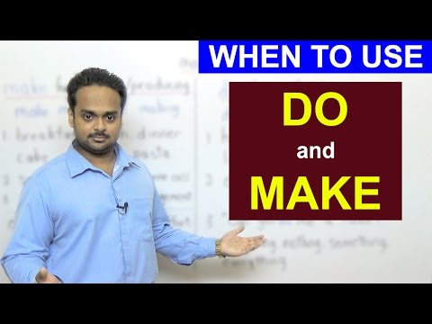 DO Or MAKE? - English Grammar - Difference Between 'Do' And 'Make' - With Examples & Exercises