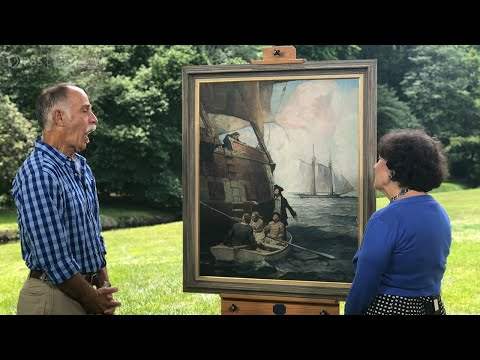 1923 Frank Schoonover Oil Painting   Best Moment   ANTIQUES ROADSHOW   PBS