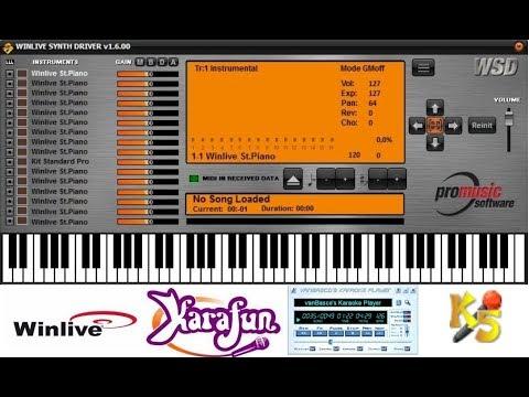 WINLIVE SYNTH DRIVER 2.0 (Vanbasco, Karafun, Karaoke5, Hiplay, Kanto Karaoke, Karawin, Karall...)