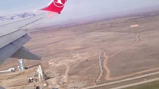 Takeoff from Bishkek, Kyrgyzstan