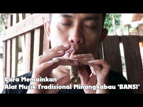 Cara Memainkan Bansi, Alat Musik Tiup Tradisional Sumatera Barat