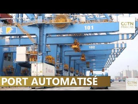 Premier port entièrement automatisé d'Asie