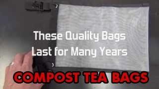 Mesh Bags For Compost TEA   Premium TEA BAGS   BEST Compost TEA Filter Bags   Tea Brewing Bags
