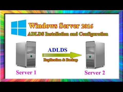 how to install and configure AD LDS in windows server 2016