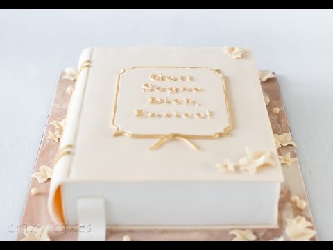 Cake Decorated Like Books : Book-shaped cake - short step-by-step tutorial - YouTube