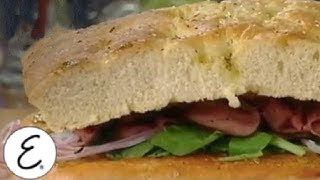 Roast Beef And Arugula Focaccia Sandwiches - Let's Kick It Up A Notch! - Emeril Lagasse