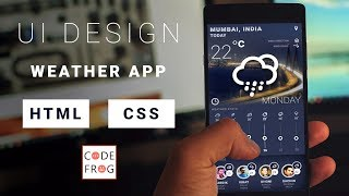 UI Design Tutorial - Weather App | HTML CSS Speed Coding