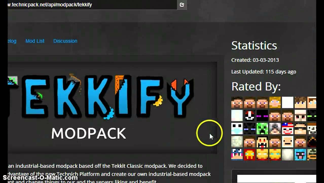tekkify mod pack