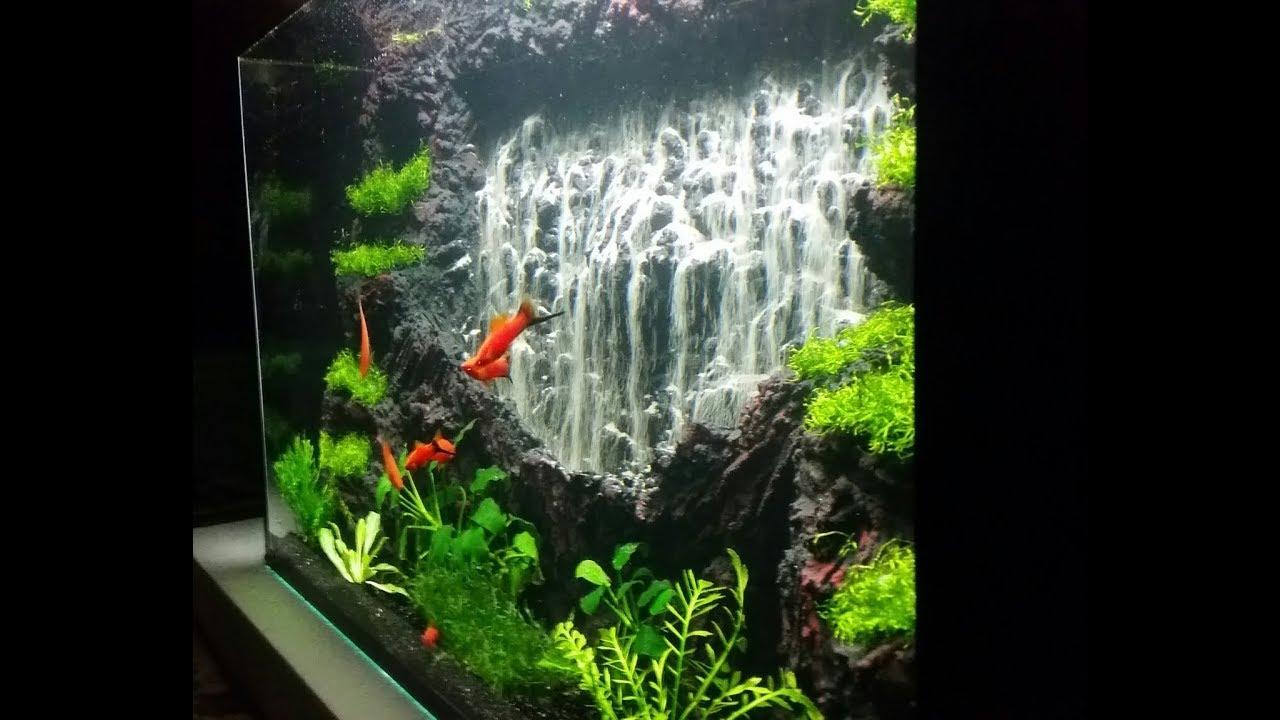 powerful waterfall 1 aquarium sand waterfall 46 youtube