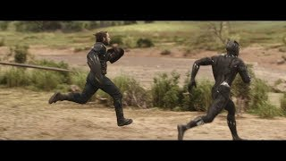 Avengers: Infinity War - Captain America and Black Panther outruns everyone/Running Scene [HD] 2018