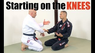 What To Do When You're Starting BJJ Sparring On Your Knees