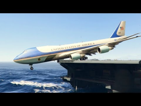 "GTA 5 - Giant Air Plane ""Breathtaking Landing At Aircraft Carrier"" (GTA 5 Crazy moments)"