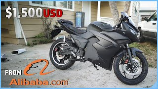 How I Bought an ELECTRIC SPORTBIKE from CHINA on Alibaba.com