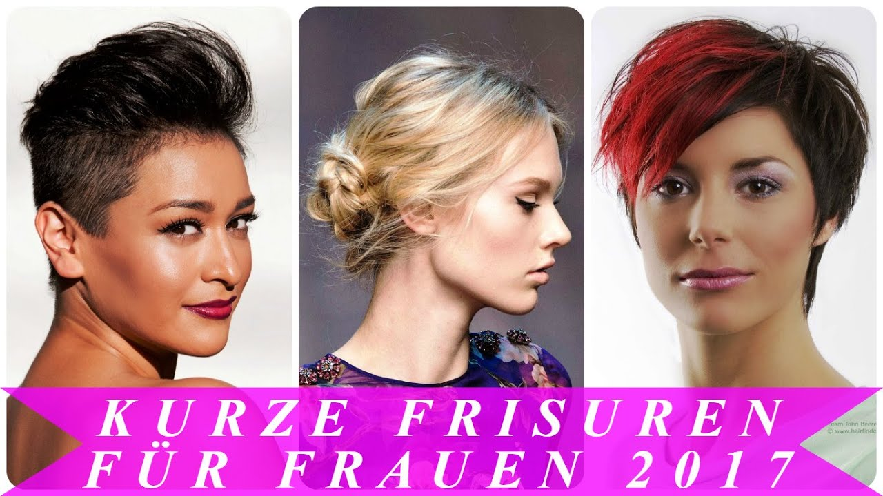 Kurze Frisuren Für Frauen 2017 YouTube