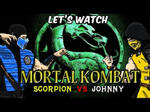 Let's Watch - Mortal Kombat 1995 (Scorpion vs Johnny Cage Fight)