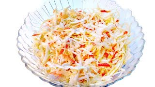 Салат из свежей капусты! Вкусно и быстро!