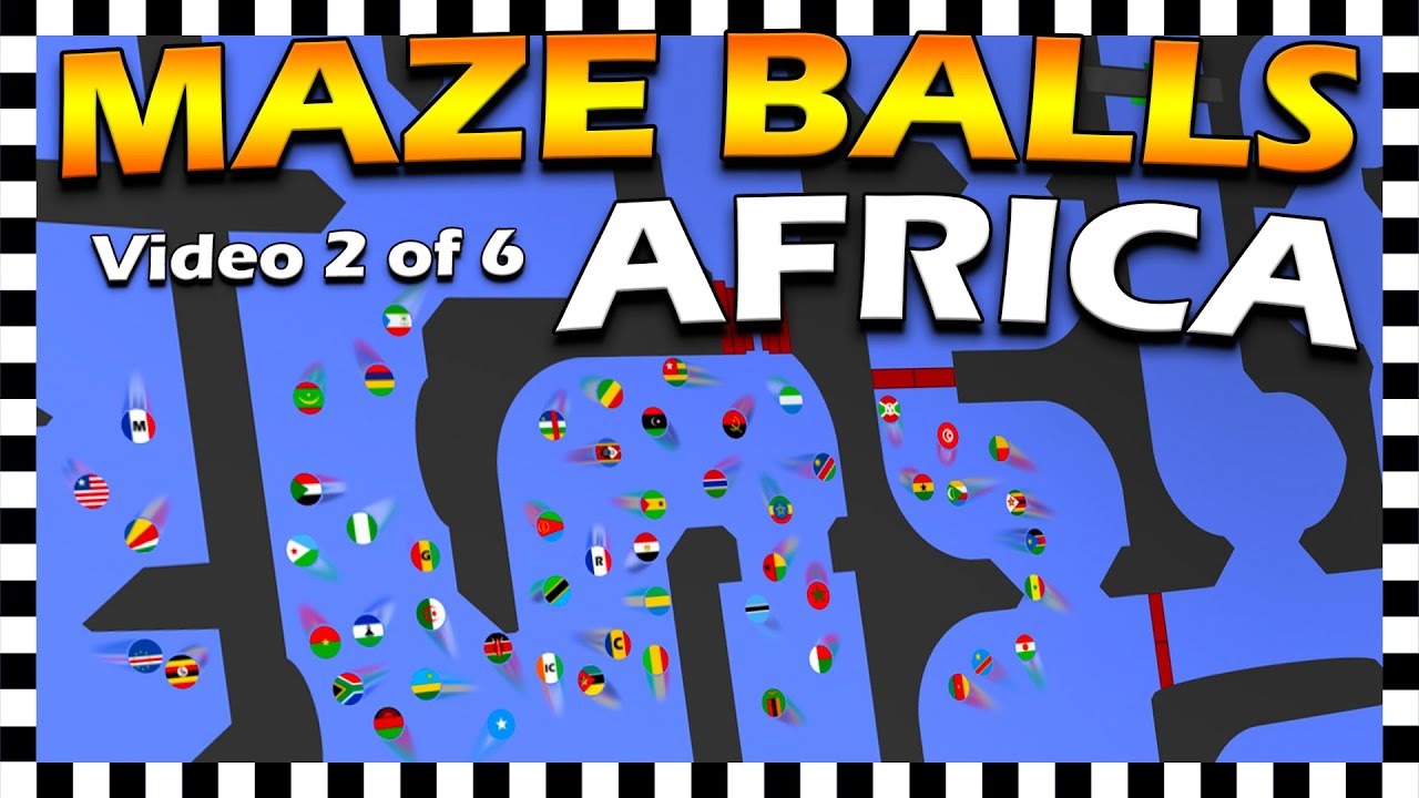 Country Maze Balls Africa - Marble Race
