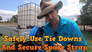 How to Use Tie Downs Safely and Secure Excess Strap to tidy your load