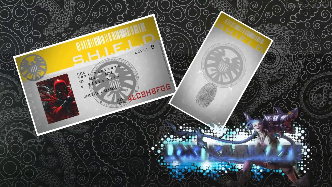plantilla ,credencial de S.H.I.E.L.D (gratis ) - YouTube